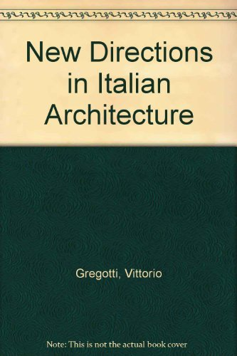 9780807604809: New Directions in Italian Architecture