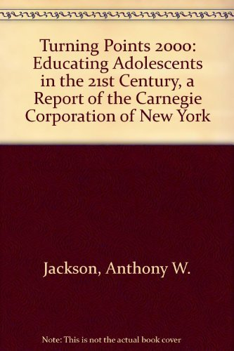 9780807739976: Turning Points 2000: Educating Adolescents in the 21st Century