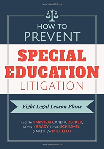 9780807757079: How to Prevent Special Education Litigation: Eight Legal Lesson Plans