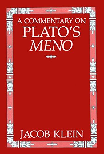 "9780807809464: Commentary on Plato's ""Meno"""