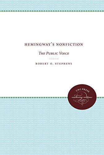 9780807810767: Hemingway's Nonfiction: The Public Voice