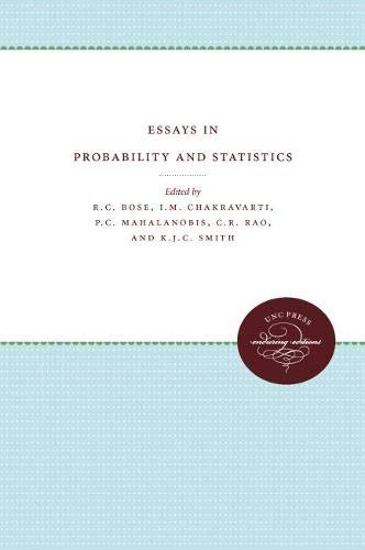 9780807811092: Essays in Probability and Statistics (Monograph Series in Probability and Statistics)