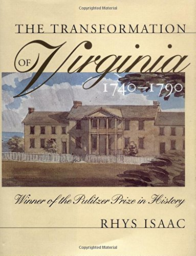 9780807814895: The Transformation of Virginia, 1740-1790