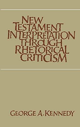 9780807841204: New Testament Interpretation Through Rhetorical Criticism (Studies in Religion)
