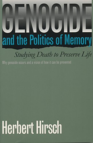 9780807845059: Genocide and the Politics of Memory: Studying Death to Preserve Life