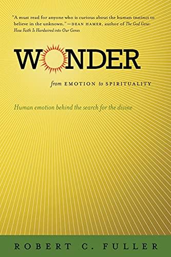 9780807859612: Wonder: From Emotion to Spirituality