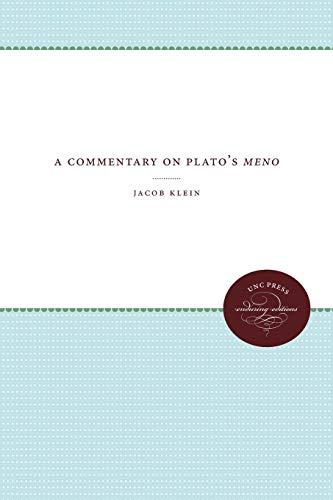 9780807873984: A Commentary on Plato's Meno