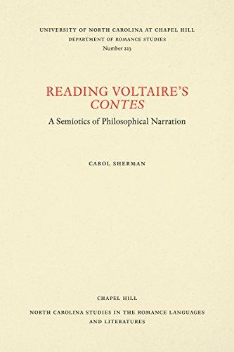 Reading Voltaire's Contes: A Semiotics of Philosophical: Sherman, Carol L.