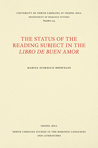 9780807892282: The Status of the Reading Subject in the Libro de Buen Amor (North Carolina Studies in the Romance Languages and Literatures)