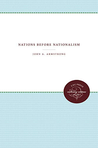 9780807896075: Nations Before Nationalism (UNC Press Enduring Editions)