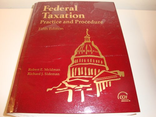 Federal taxation: Practice and procedure
