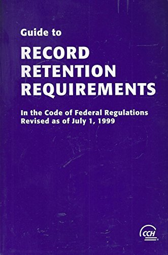 9780808004257: CCH Guide to Record Retention Requirements - CCH Editorial Staff - Paperback