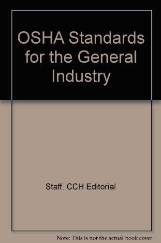9780808004738: OSHA Standards for the General Industry