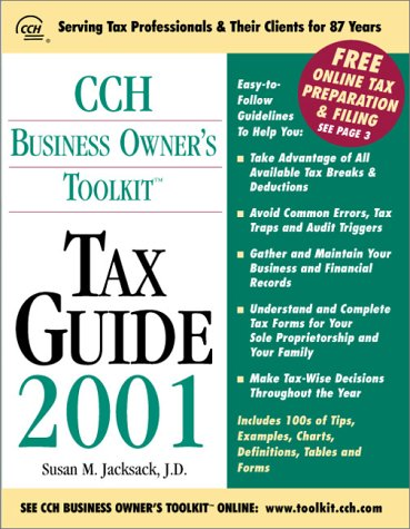 9780808004967: CCH Business Owner's Toolkit Tax Guide 2001