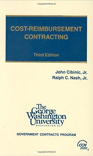 9780808006640: Cost Reimbursement Contracting 3e Hardcover