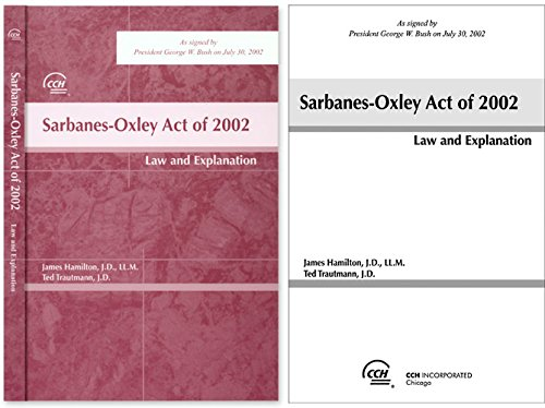 9780808008408: Sarbanes-Oxley Act of 2002: Law and Explanation