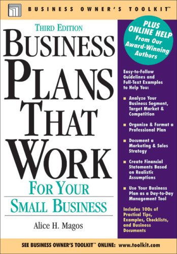 9780808017936: Business Plans That Work: For Your Small Business (Business Owner's Toolkit series)