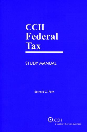 9780808018599: Federal Tax Study Manual (2009)