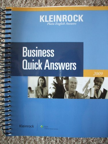 9780808018803: Business Quick Answers (Plain- English Answers) 2009