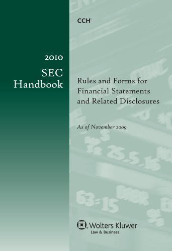 9780808022824: Sec Handbook 2010: Rules and Forms for Financial Statements and Related Disclosures