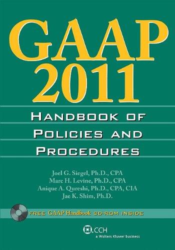 9780808023883: GAAP Handbook of Policies and Procedures (W/CD-ROM) (2011)
