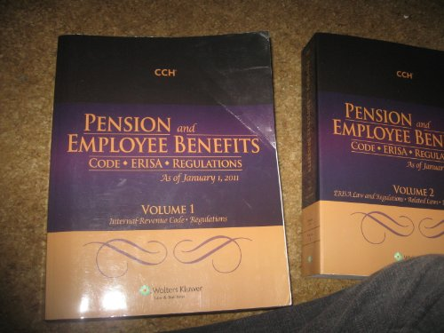 9780808025023: Pension and Employee Benefits Code ERISA as of January 1, 2011 (Volume 1)