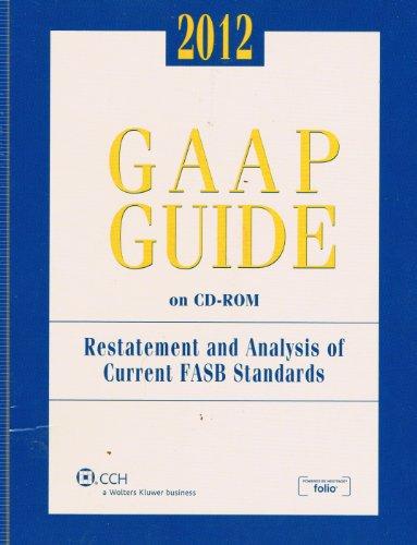 9780808026426: GAAP Guide on CD-ROM, (2012 Standalone CD)