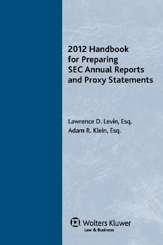 9780808028185: Handbook for Preparing SEC Annual Reports & Proxy Statements, 2012 Edition