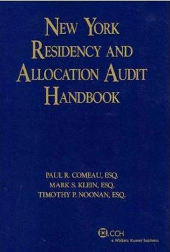 9780808028598: New York Residency and Audit Allocation Handbook