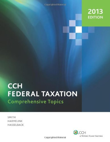 9780808029724: Federal Taxation: Comprehensive Topics  (2013)