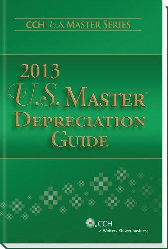 9780808031840: U.S. Master Depreciation Guide (2013) (Cch U.s. Master Series)