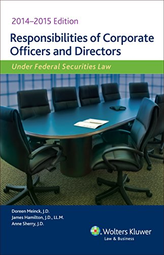 9780808040262: Responsibilities of Corporate Officers & Directors