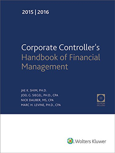 9780808040675: Corporate Controller's Handbook of Financial Management (2015-2016)