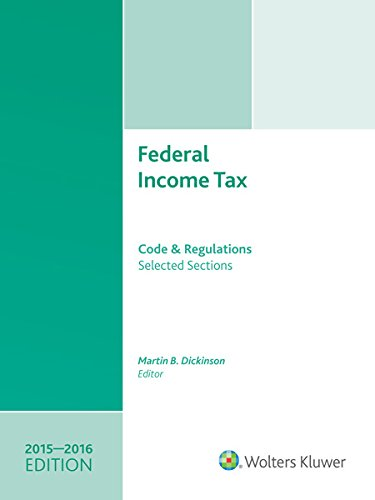 9780808040989: Federal Income Tax: Code and Regulations--Selected Sections (2015-2016) w/CD
