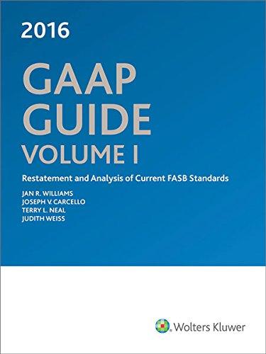 GAAP Guide 2016 (Paperback): Jan R Williams, Joseph V Carcello, Terry Neal