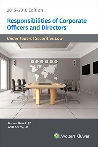 9780808042419: Responsibilities of Corporate Officers and Directors, 2015-2016 Edition