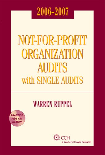 9780808090250: Not-for-Profit Organization Audits with Single Audits (2006-2007)