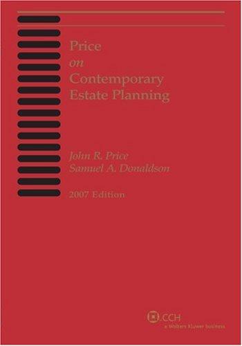 Price on Contemporary Estate Planning: John R. Price