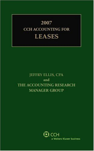 9780808090687: CCH Accounting for Leases (2007)