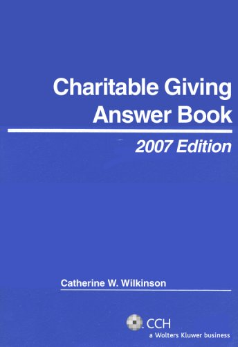 9780808090700: Charitable Giving Answer Book (2007) (Answer Books)