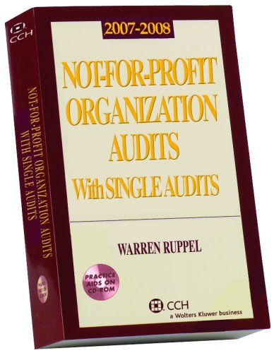 9780808090984: Not-For-Profit Organization Audits with Single Audits (2007-2008)