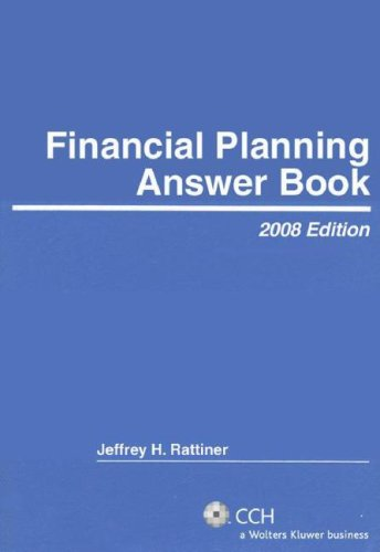 9780808091400: Financial Planning Answer Book (2008)