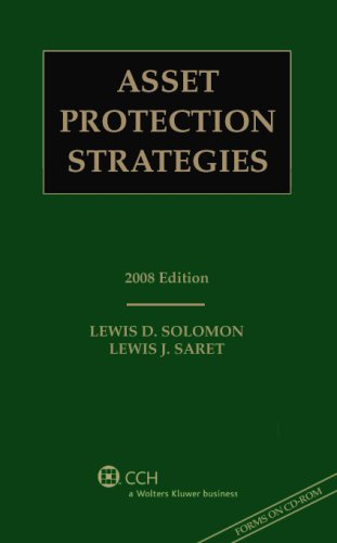 9780808091455: Asset Protection Strategies, 2008 Edition (with CD)