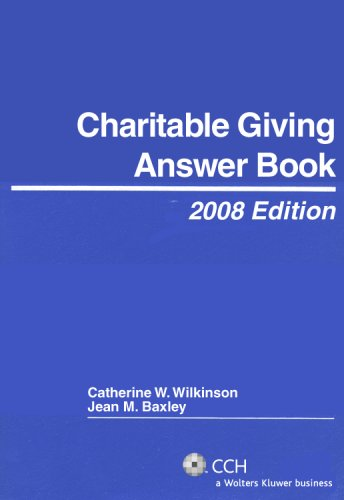 9780808091462: Charitable Giving Answer Book (2008)