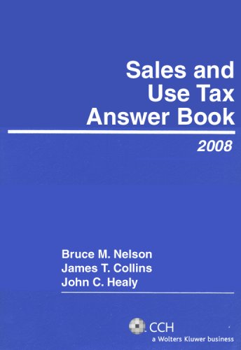 9780808091547: Sales and Use Tax Answer Book (2008)