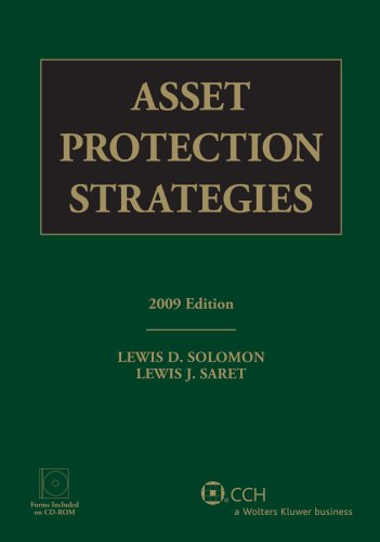 9780808092117: Asset Protection Strategies, 2009 Edition (with CD)
