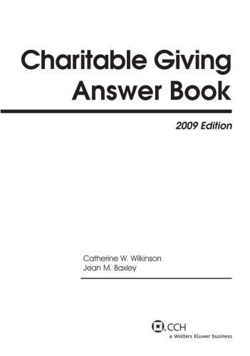 9780808092131: Charitable Giving Answer Book (2009) (Answer Books)