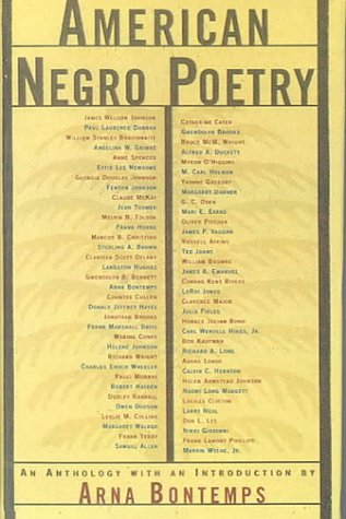 American Negro Poetry: An Anthology (American Century): Bontemps, Arna Wendell