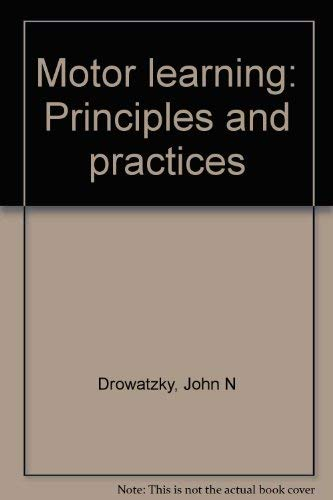 9780808704959: Title: Motor learning Principles and practices