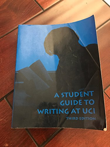 9780808709671: A Student Guide to Writing at UCI